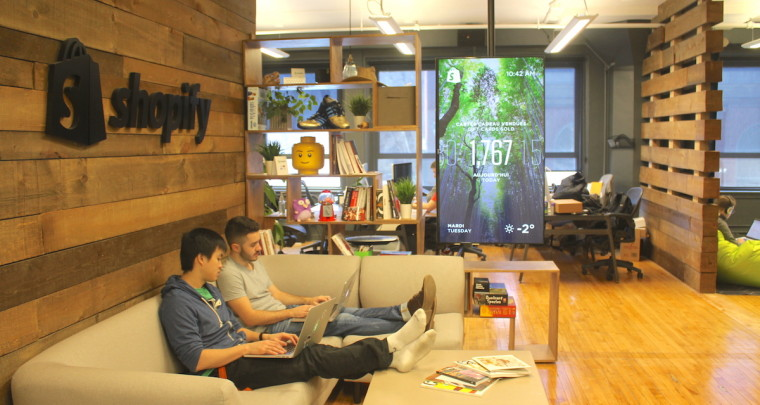 Inside Shopify Montreal Office Where no One Actually Owns a Desk