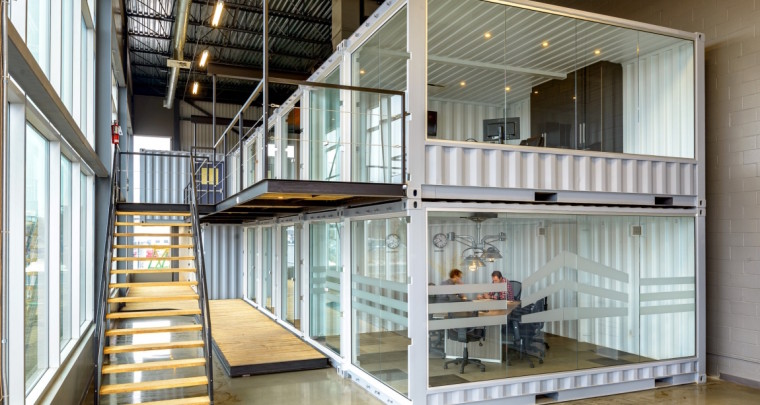 Modulable and Stackable Offices and Creative Spaces by LOKI Box Design