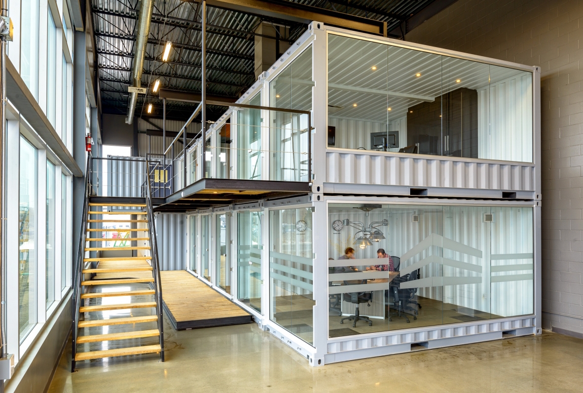 Modulable and stackable offices and creative spaces by for Design in a box interior design