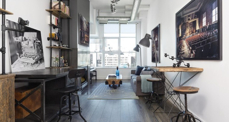 Outdated Toronto Loft Gets Modernized With Industrial Touches - Via HomeEdit