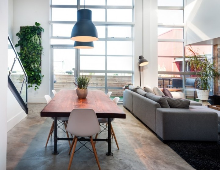 Vintage modern loft in Vancouver's Brewery District - via HomeAdore