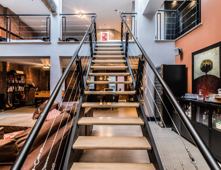 Entertaining 2 Floor Loft Hidden Behind an Elegant Old Montreal Facade