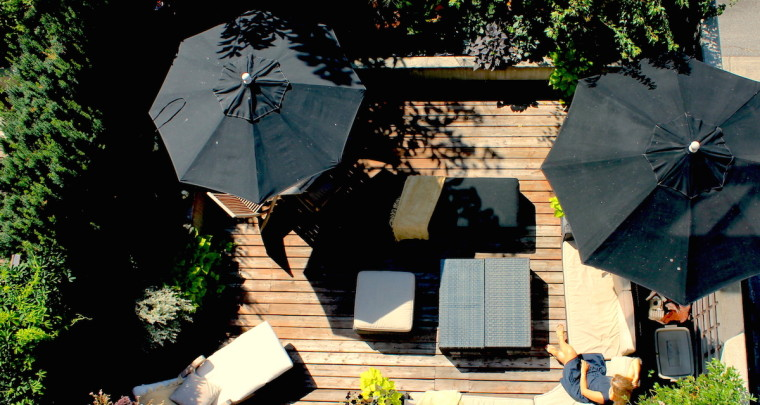 Blend In with Nature On this Landscaped Patio and Unit at THE MACK in Kitsilano