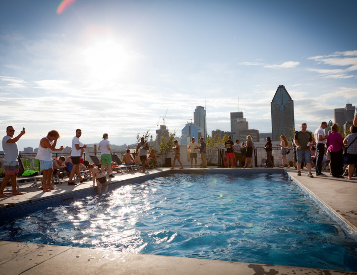 Lowney Sur Ville Celebrates New Rooftop Pool with Friends and Family
