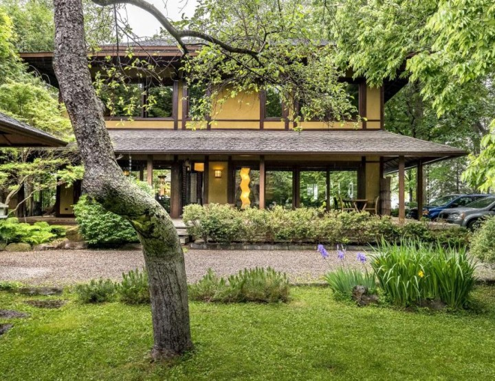 This Japanese Inspired Waterfront Property is so Zen!