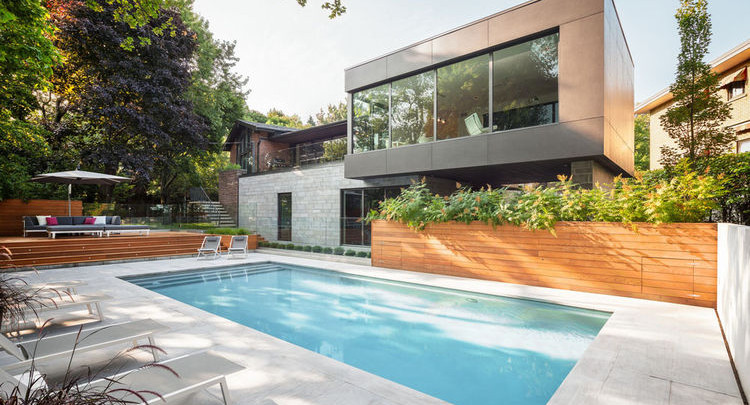In Montreal, a Modern Addition Captures Views of the Horizon | Via Dwell