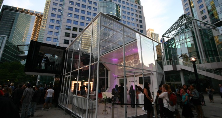 L'Oreal Paris Custom Container Showroom by LOKI Box Design at Toronto International Film Festival