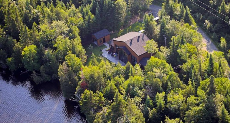Fresh Listing: A Haven of Peace and Modern Residence on Lac des Trois Mille in the Eastern Townships