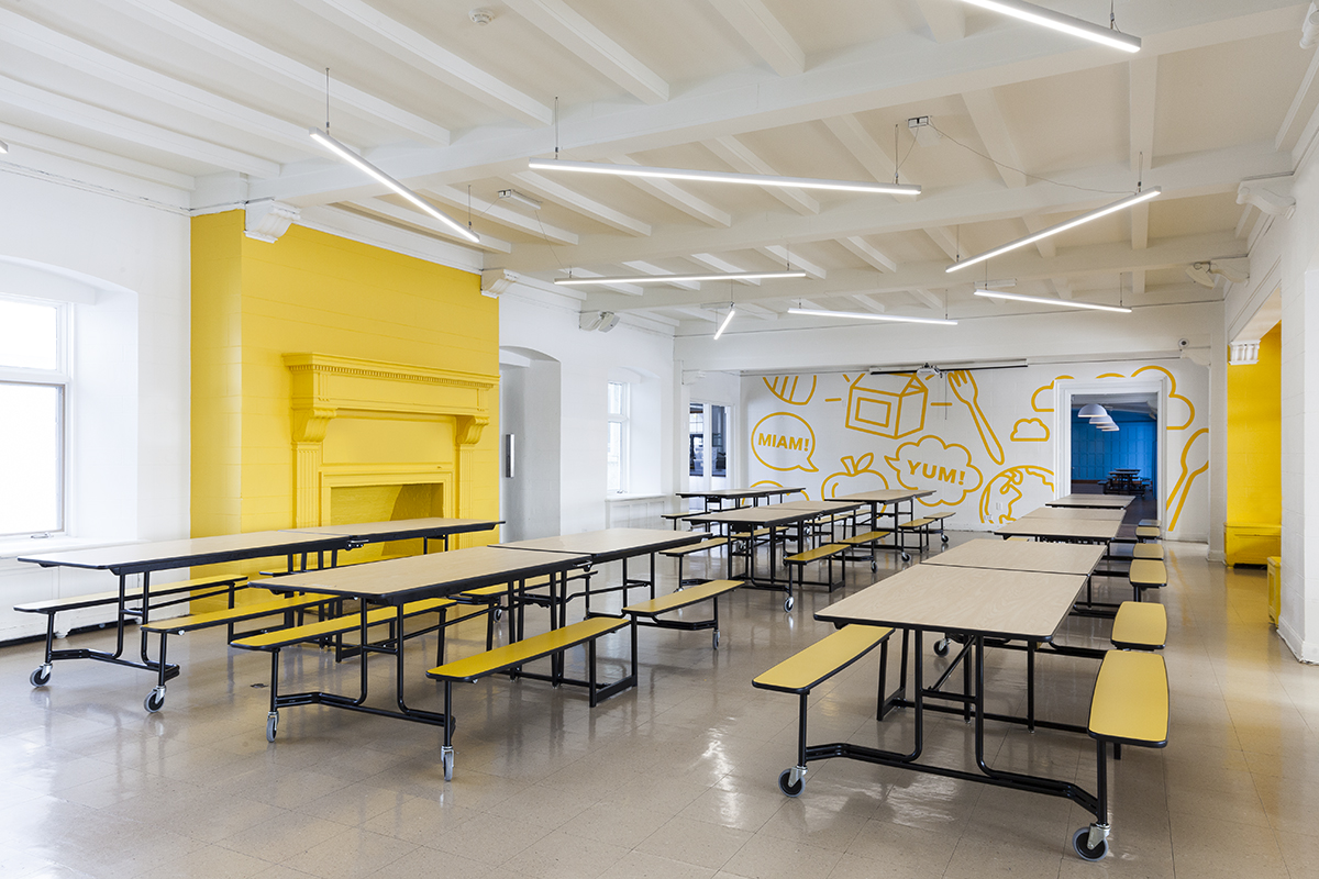 Taktik Design Revamps The Sainte Anne Academy An Elementary School In Dorval Tower Trip