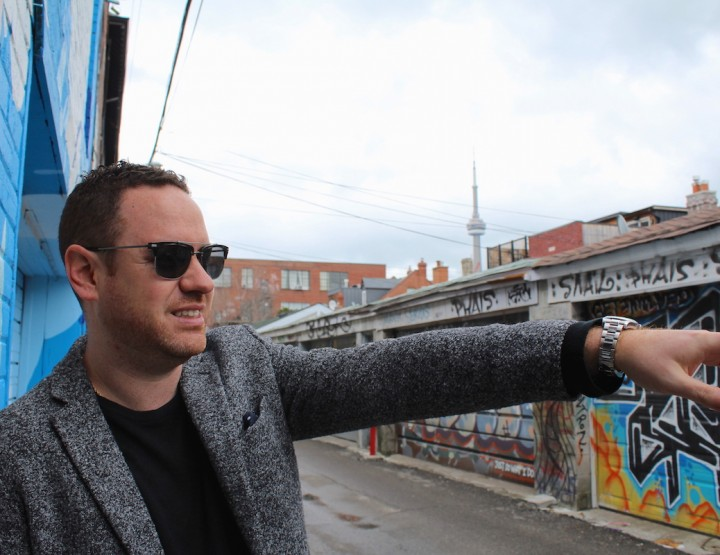Strolling the Graffiti Alley in Toronto with Realtor Mark Savel of Sage Real Estate