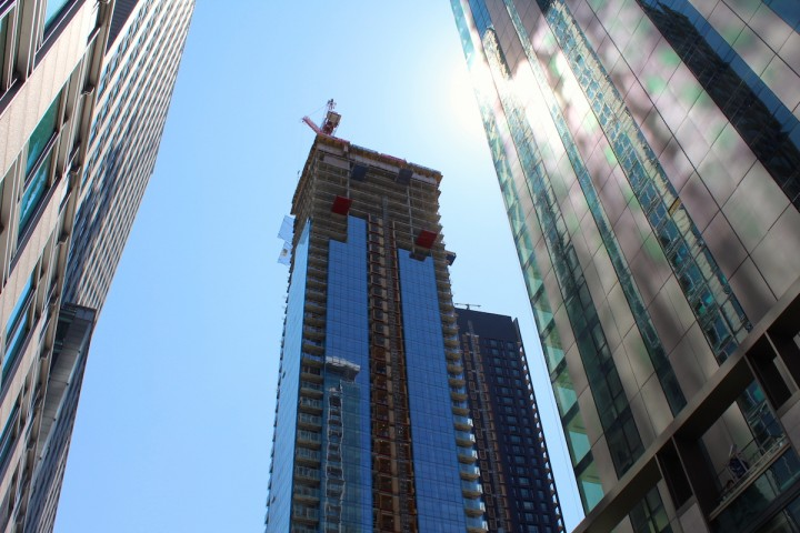 Exclusive Tour of L'Avenue Penthouses Under Construction Above the Montreal Skyline