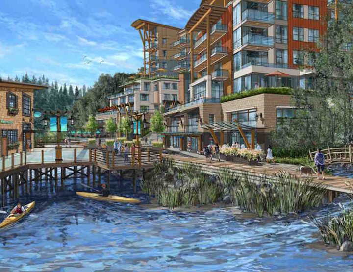 Waterfront luxury hotel and private residences will rise in the Sunshine Coast's historic town of Gibsons Landing