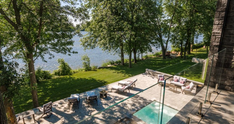 High-Tech Modern Mansion on River Richelieu With Wide Overlooking Patio