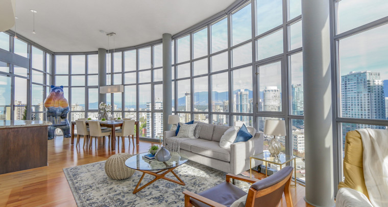 True Home in the Sky: This Vancouver PH Overlooks Downtown From Its Huge Patio and Wall of Windows