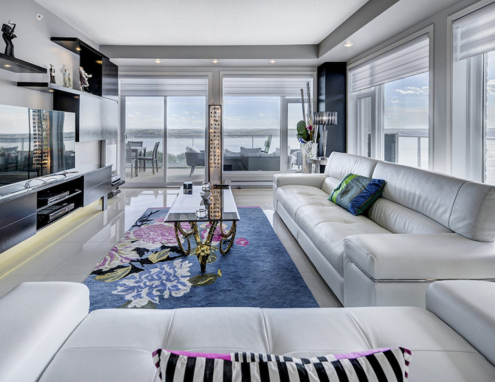 Now That's a View! Luxury Condo in Québec City Offers Calming Water Vista