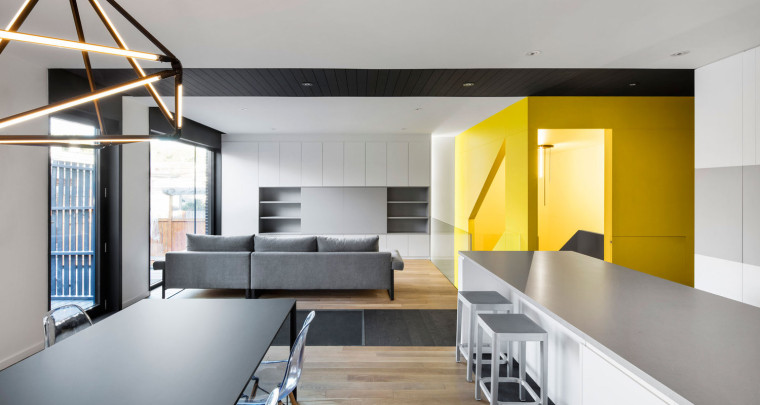 Black & Yellow Canari House by NatureHumaine in Montreal - Via ArchDaily
