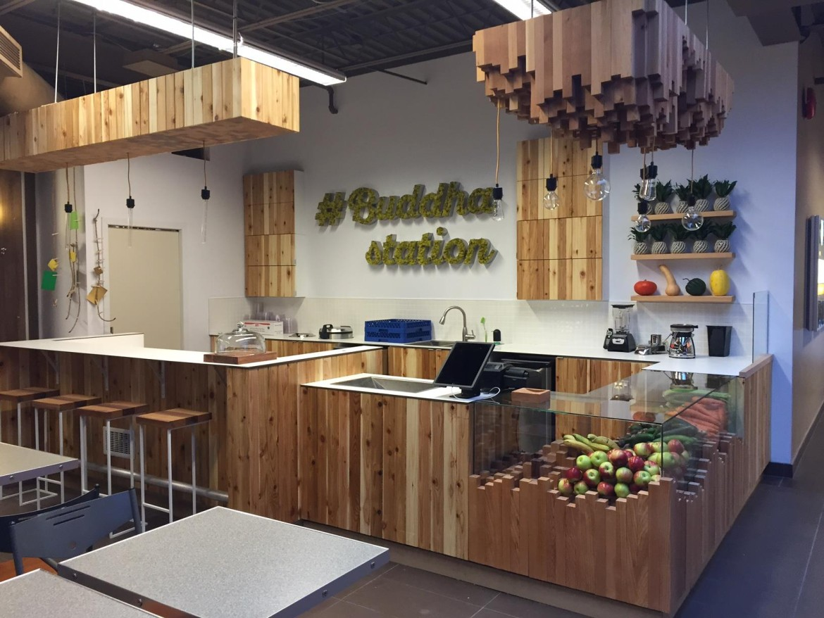 Buddha station rethinks the fast food experience with 400 square feet restaurants