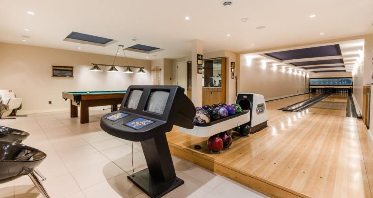 Inside a 5M$ Waterfront Smart Home With its Own Bowling Alleys!